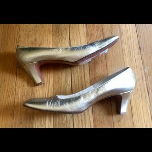 50s/60s Vintage Palter Debs Gold Heels